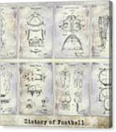 Football Patent History Canvas Print