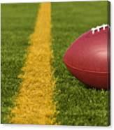 Football Short Of The Goal Line Close Canvas Print