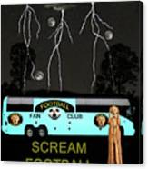 Football Tour Scream Canvas Print