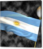 Football World Cup Cheer Series - Argentina Canvas Print