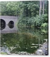 Footbridge Buckeye Falls Canvas Print