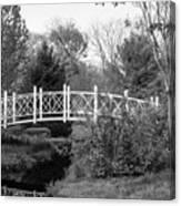 Footbridge In Black And White Canvas Print