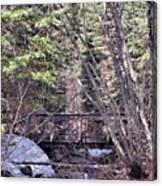 Footbridge In The Spring Canvas Print