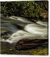 Footbridge Over Raging Moccasin Creek Canvas Print