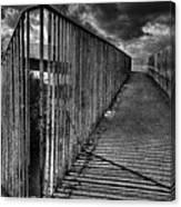 Footbridge Railings Canvas Print
