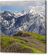 Foothills Above Salt Lake City Canvas Print