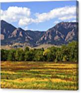 Foothills Of Colorado Canvas Print