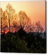 Foothills Parkway Sunrise Canvas Print