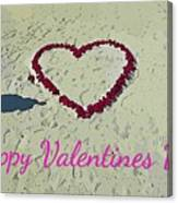 For My Valentine Canvas Print