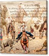 For The Love Of Rodeo Canvas Print