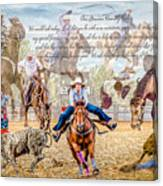For The Love Of Rodeo II Canvas Print