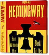 For Whom The Bell Tolls Book Cover Poster Art 1 Canvas Print