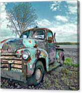 For Whom The Truck Tows Canvas Print