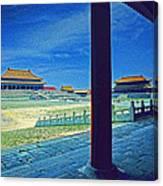 Forbidden City Porch Canvas Print