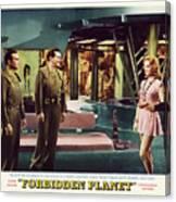 Forbidden Planet In Cinemascope Retro Classic Movie Poster Indoors Canvas Print
