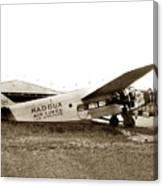 Ford 4-at-a Maddux Air Lines Los Angeles Circa 1928 Canvas Print