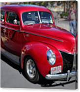 Ford 40 In Red Canvas Print