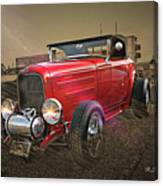 Ford Coupe Cartoon Photo Abstract Canvas Print