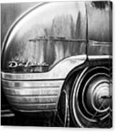 Ford Deluxe Fender Black And White Canvas Print
