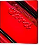 Ford Emblem -0841c Canvas Print