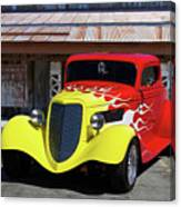 Ford Flaming Hot Rod Canvas Print