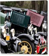 Ford Model A Line Up Canvas Print