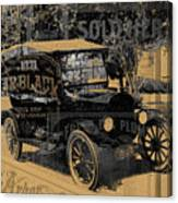 Ford Model T Made Using Found Objects Canvas Print