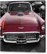 Ford Thunderbird Red V1 Canvas Print
