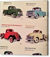 Ford Truck Stamps Canvas Print