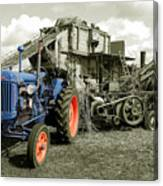 Fordson And The Threshing Machine Canvas Print