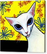 Foreign White Cat Canvas Print