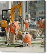 Foreign Workers - Manama Bahrain Canvas Print