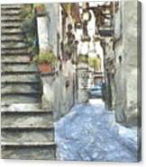Foreshortening With Stairs Canvas Print