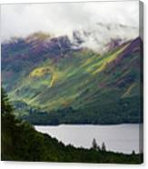 Forest And Lake Derwent Water Drama Canvas Print