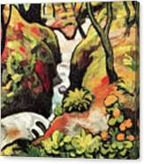 Forest Brook By August Macke Canvas Print