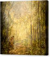 Forest Butterfly Moon Canvas Print