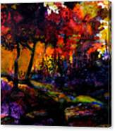 Forest Flames Canvas Print