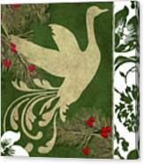 Forest Holiday Christmas Goose Canvas Print