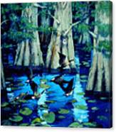 Forest In Water Canvas Print