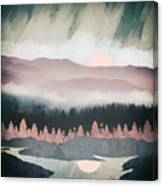 Forest Lake Evening Canvas Print