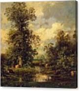 Forest Landscape 1840 Canvas Print