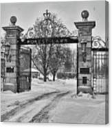 Forest Lawn Gate 4391 Canvas Print