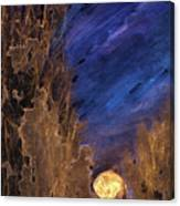 Forest Moonrise Glow Canvas Print