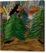 Forest Of Crows Canvas Print
