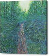 Forest Of Green And Blue Canvas Print