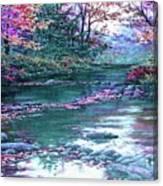 Forest River Scene. L B Canvas Print