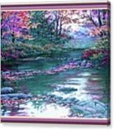 Forest River Scene. L B With Alt. Decorative Ornate Printed Frame. No. 1 Canvas Print