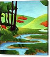 Forest Stream - Through The Forest Series Canvas Print