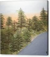 Forest Sunrise Beach Canvas Print