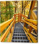 Forest Tower Steps Canvas Print